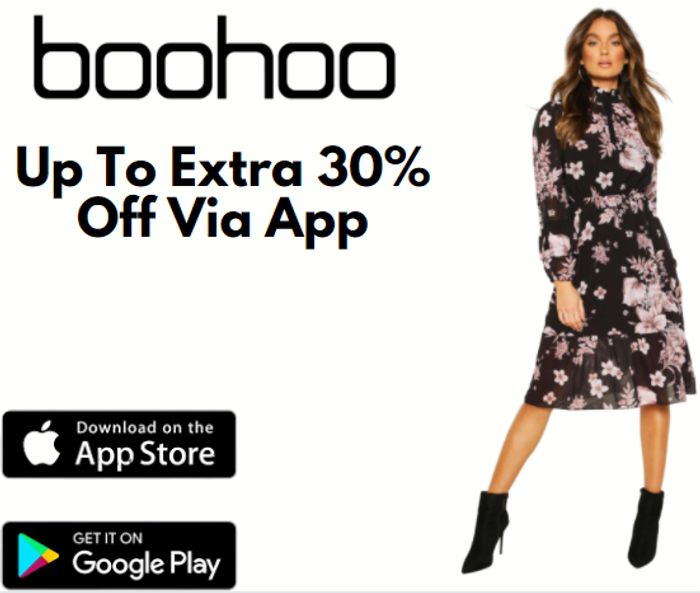 boohoo - Up To 30% Extra Off When You Shop On The App!