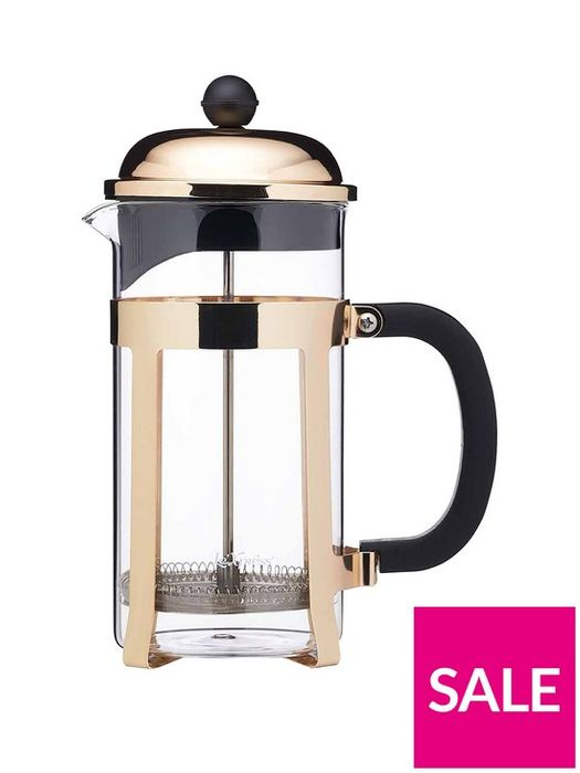 *SAVE £5* Le'Xpress Brass Finish Stainless Steel 8-Cup French Press Cafetir