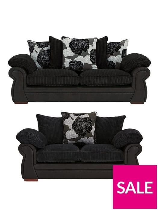 Cheap Andorra 3-Seater plus 2-Seater Sofa Set - SAVE £1000