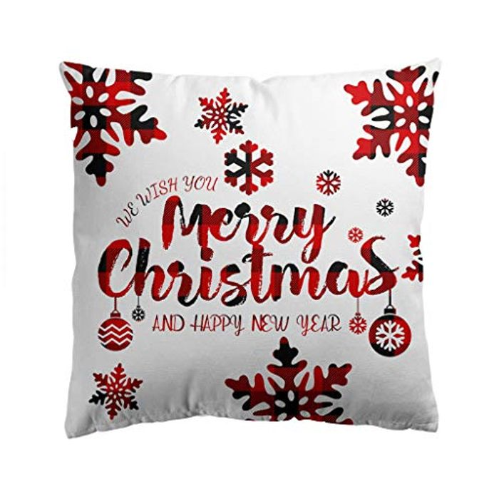 Merry Christmas Series Flax Soft Throw Pillow Case Decorative