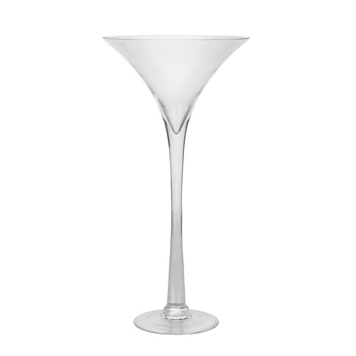 The Range. Tall Martini Candle Holder - Clear