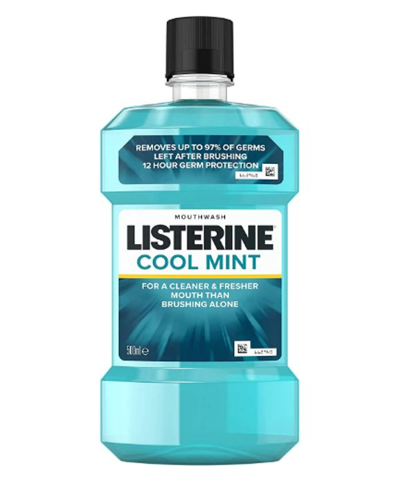 Listerine Cool Mint Mouthwash, 500 Ml - Only £1.99!