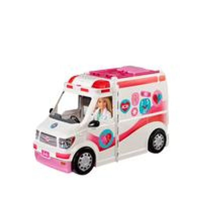 Barbie Careers Care Clinic Vehicle Ambulance with Lights and Sounds