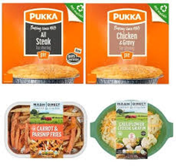 Buy 2 Pie, 1 Mash & 1 Vegetables for £5. Order by 06/10/2020