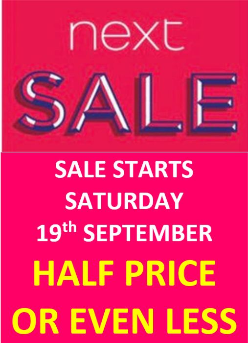 NEXT SALE - Half Price or Less