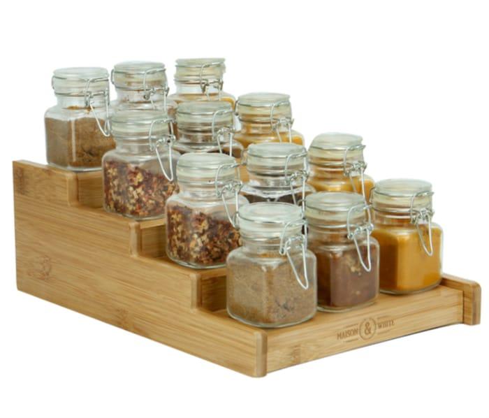 4 Tier Bamboo Spice Rack | M&W