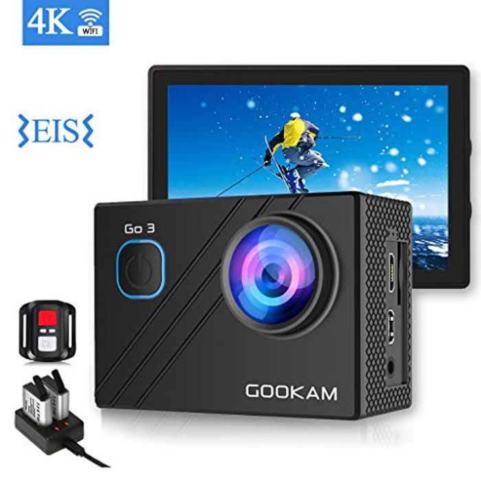 DEAL STACK - GOOKAM 4K 20MP Action Camera