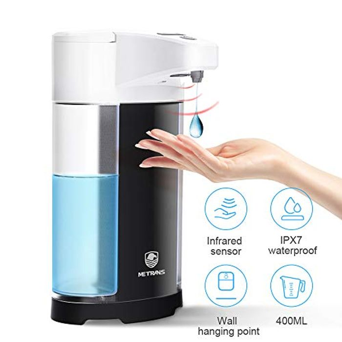 Metrans Automatic Soap Dispenser, 400ml Touchless Hand Free Soap