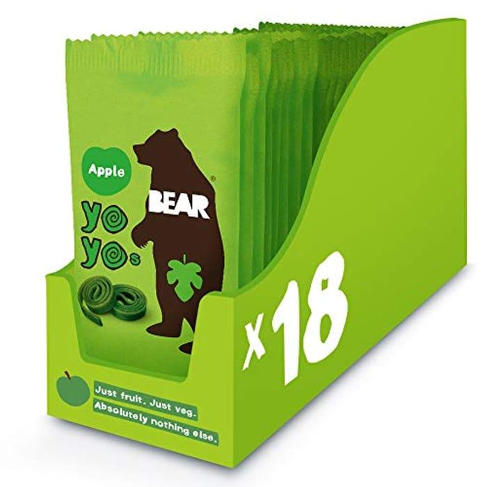 BEAR Apple Pure Fruit Yoyos 20g (Pack of 18)