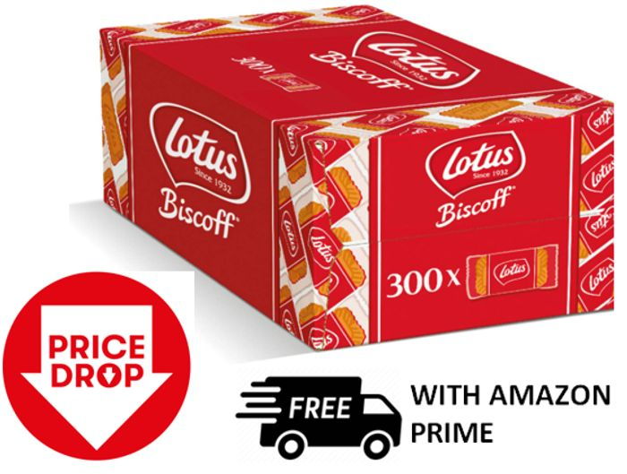 300 Lotus Biscoff Caramelised Biscuits (individually wrapped)