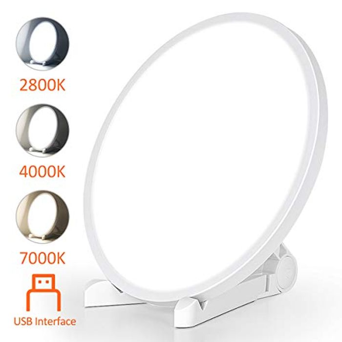 SAD Lamp, Bozily Lux Sun Lamps for Depression Energy Therapy - Only £10.4!