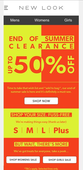 New Look Sale Starts Today!