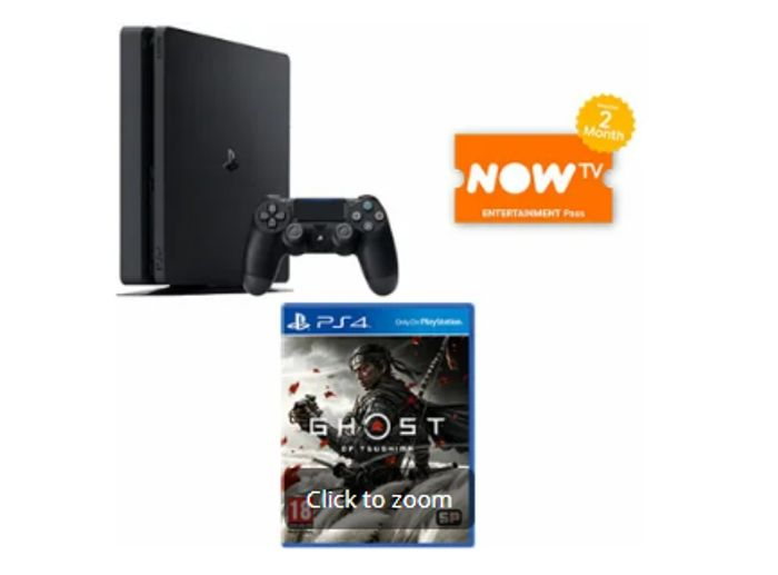 PLAYSTATION 4 500GB + GHOST of TSUSHIMA + NOW TV - Only £249!