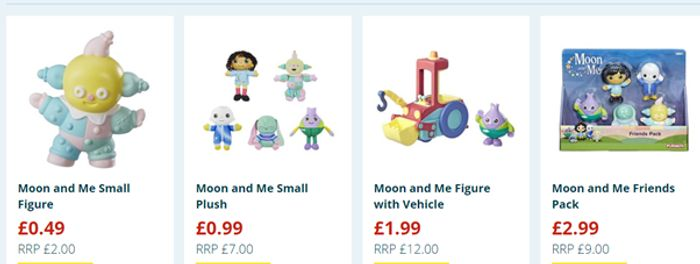 Moon and Me items from 49p