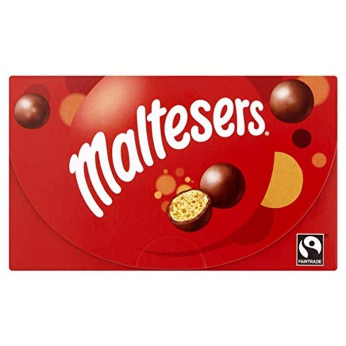 Maltesers Chocolate Gift Box, 110 G at Amazon ::£1.50 in tesco