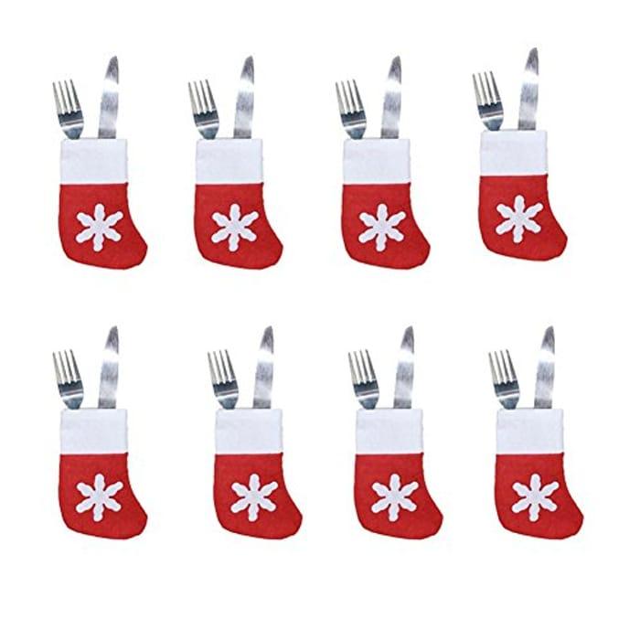 8pcs Xmas Set Cutlery Suit at Amazon