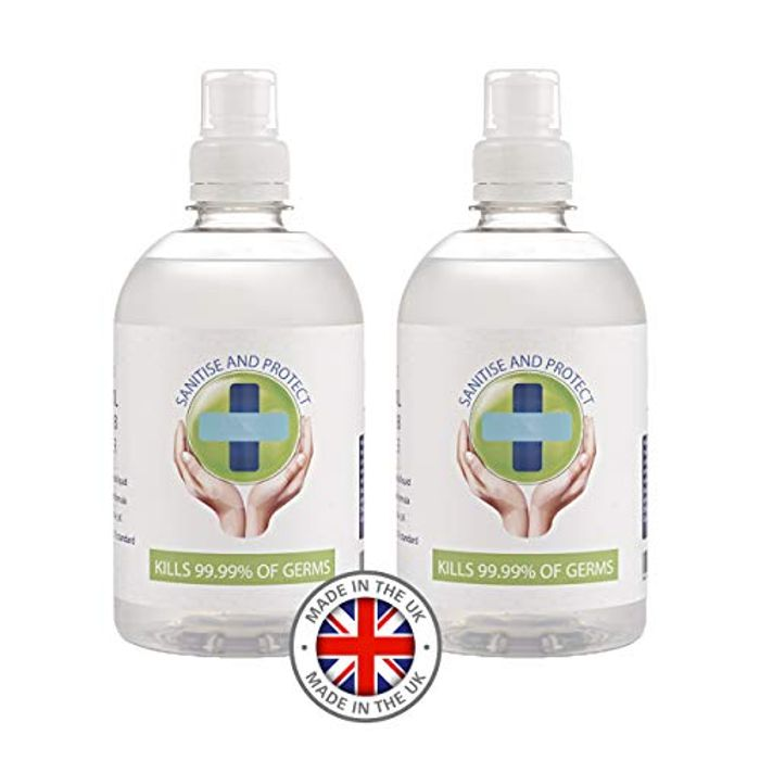70% - Alcohol Hand Sanitiser Gel - (2 for the Price of 1) 500ml X 2