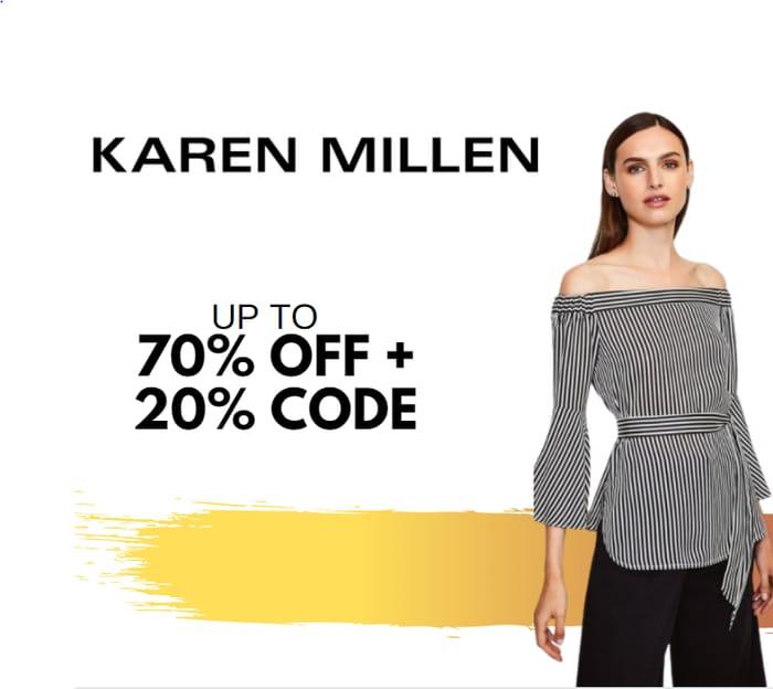 Karen Millen - Up To 70% Sale + Extra 20% Off Code!