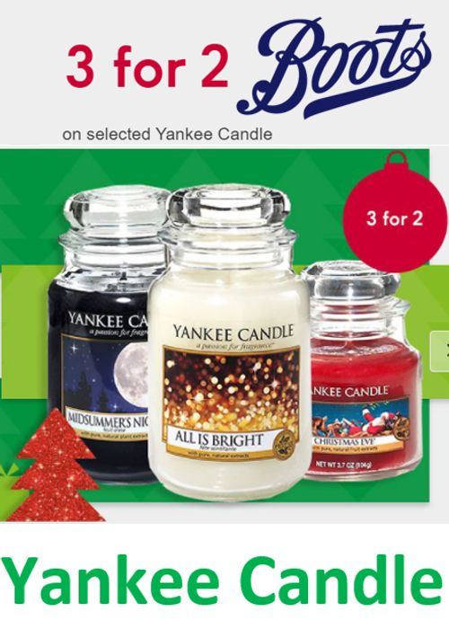 Special Offer - Yankee Candles - 3 for 2 - at Boots
