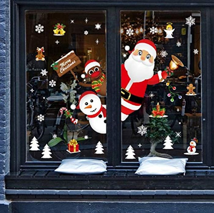 DEAL STACK - UMIPUBO Christmas Window Clings Wall Stickers