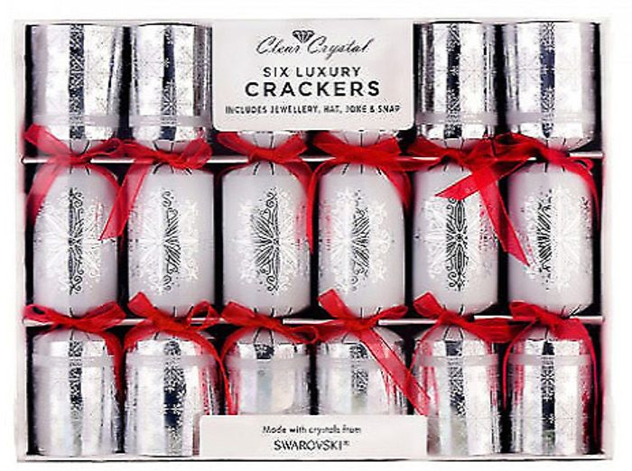 6 Luxury Christmas Crackers With Swarovski Crystals - £23.99 Delivered