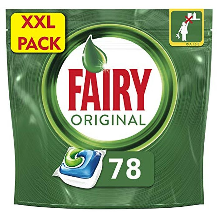 Fairy Original All-in-One Dishwasher Tablets (78 Tablets)