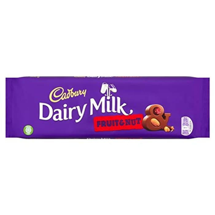 Cadbury Dairy Milk Fruit and Nut Chocolate Bar 300 G