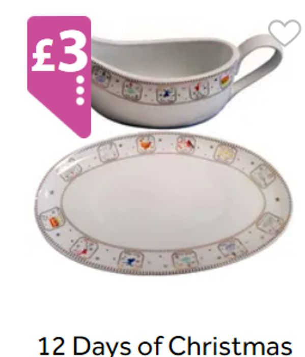 12 DAYS OF CHRISTMAS Gravy Bowl, Plate & Bowl £2 & £3 Each *See Listing For Pics