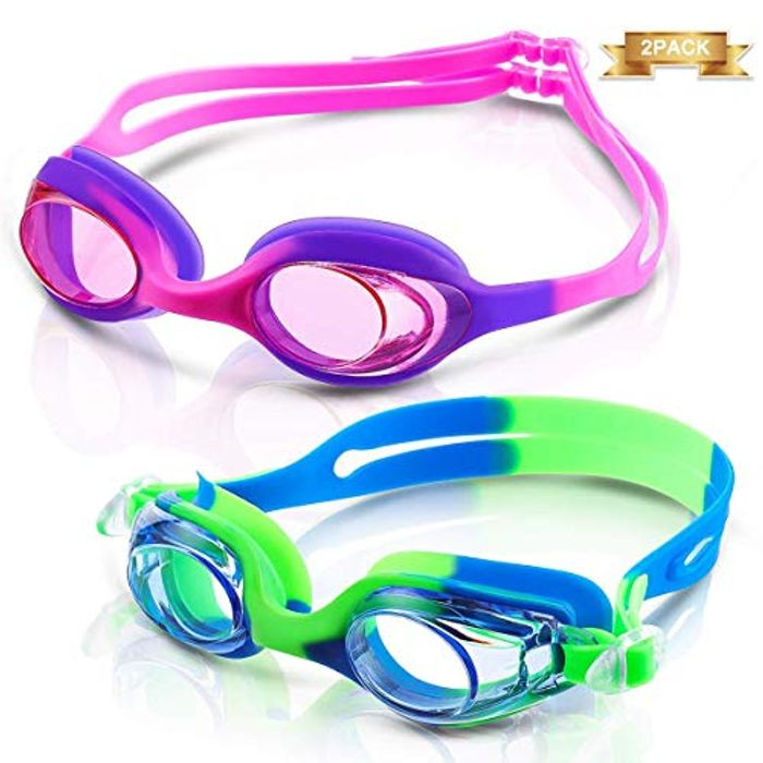 80% off Kids Swimming Goggles (2-Pack)