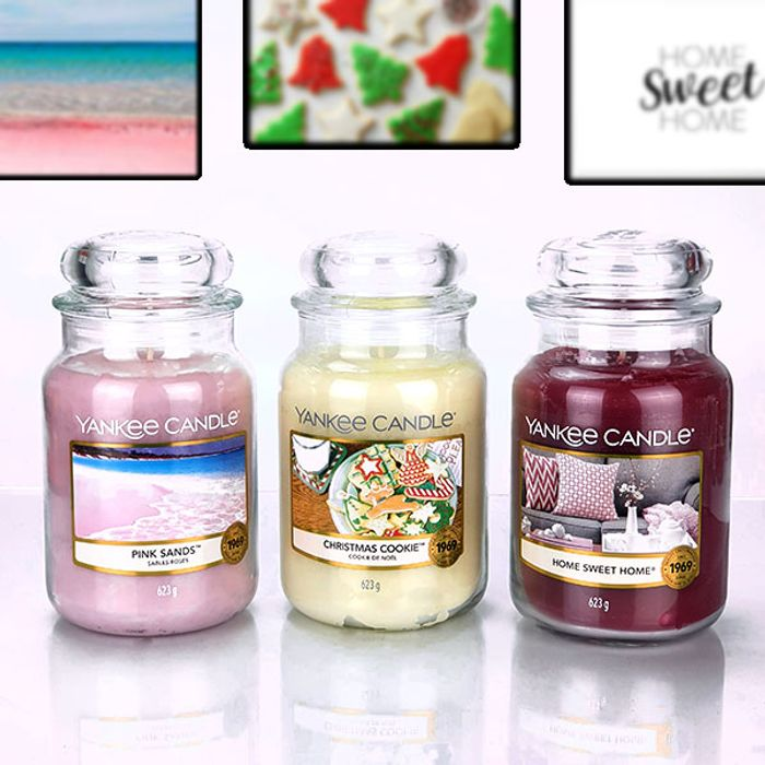 *Save over £40* 3 X Official Yankee Candle Classic Signature 623g Large Jars