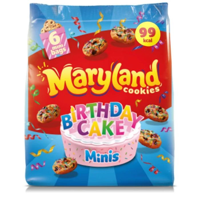 Case of 8 Maryland Special Edition Birthday Cake Cookie Minis 6pk
