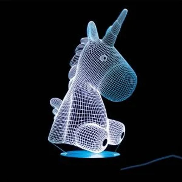 Cheap 3D ILLUSION UNICORN LAMP - Only £10!