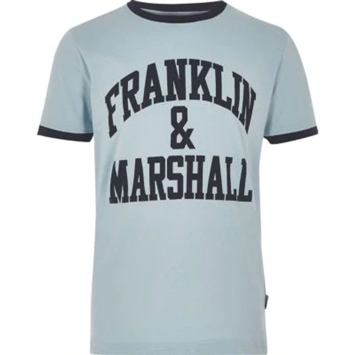 Boys Blue Franklin & Marshall Logo T-Shirt