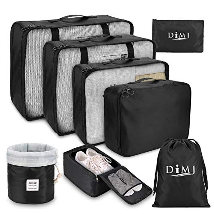 DIMJ 8 PCS Travel Luggage Organiser Set
