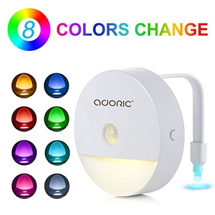Automatic Sensor LED Toilet Night Light