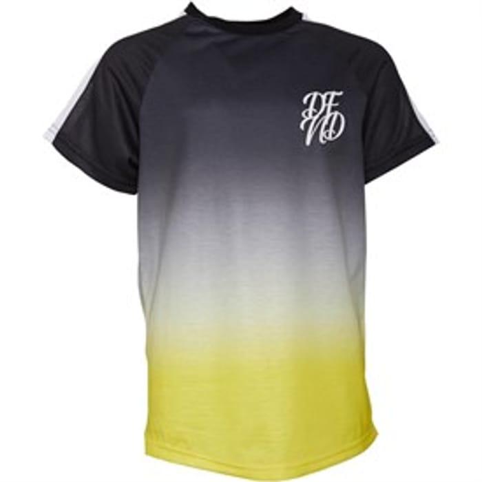 DFND London Junior Lazerfade T-Shirt Yellow/Black
