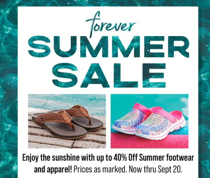 Special Odder - Save up to 40% during the FOREVER SUMMER Sale!