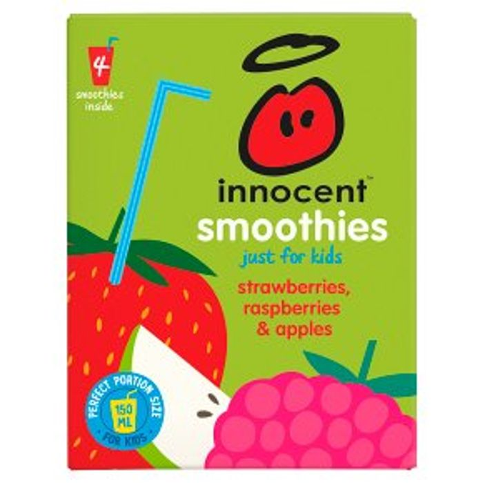 Innocent Smoothies Just for Kids Apple Strawberry Raspberry 4x150ml