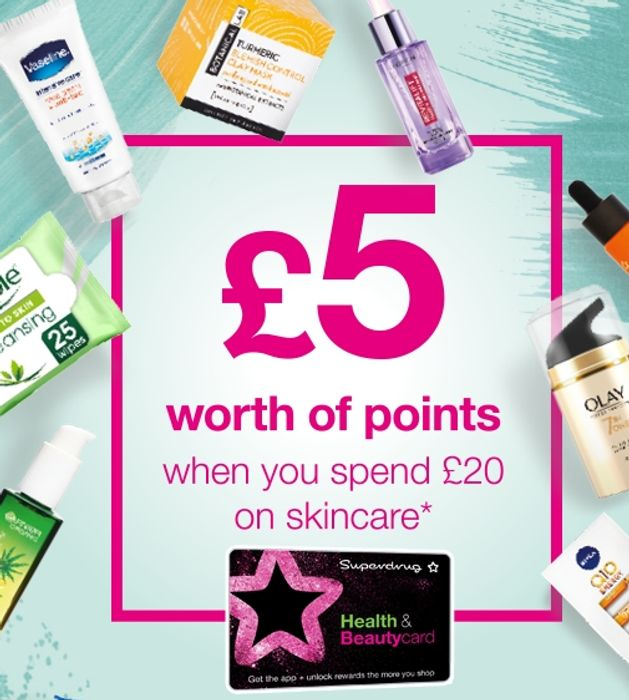 £5 worth of Points with £20 Spend on Skincare