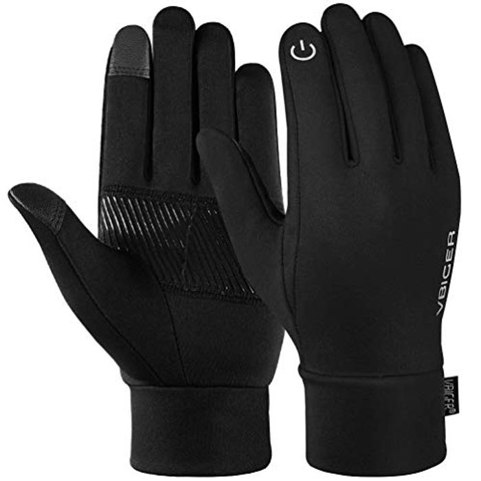 Deal Stack! VBIGER Unisex Touch Screen Running Gloves