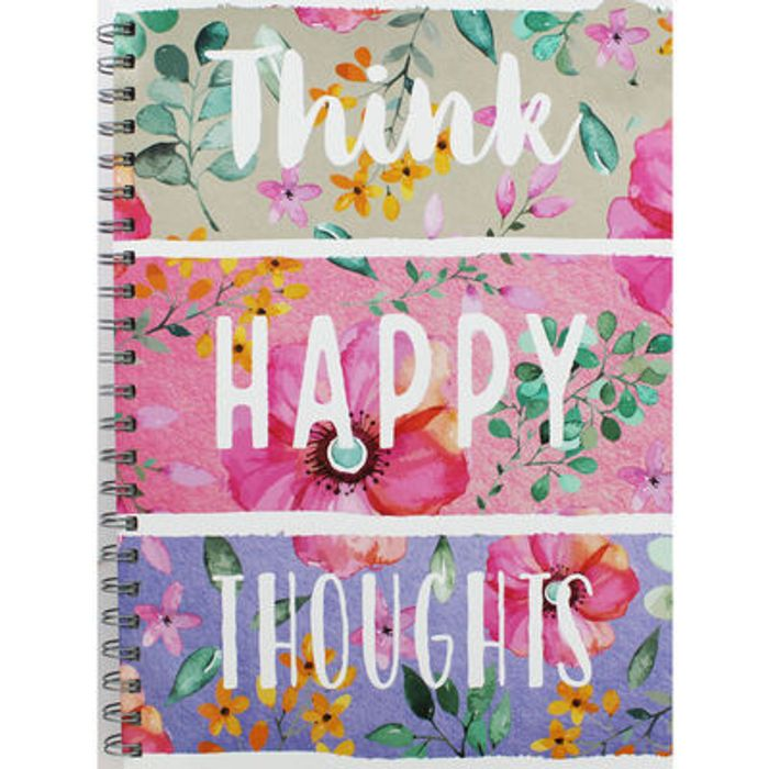 A4 Wiro Think Happy Thoughts Notebook