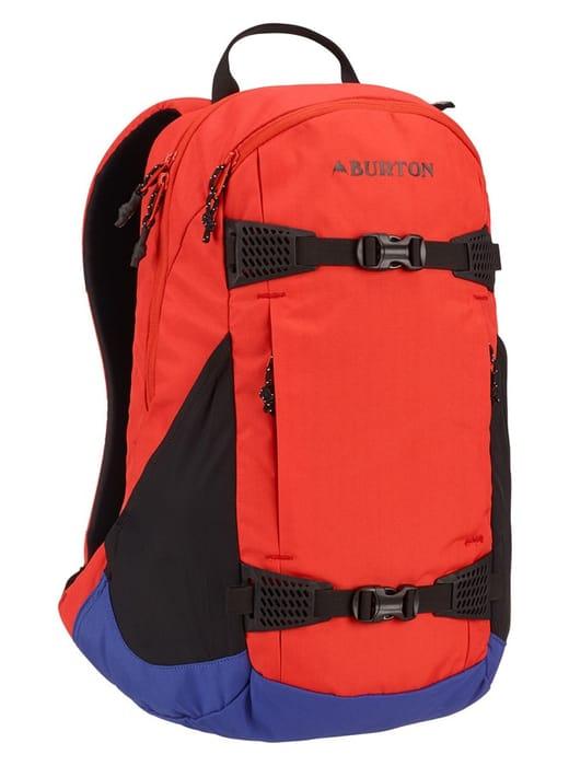 Burton Day Hiker Snowboard Backpack, 25L Flame Scarlet Triple Ripstop