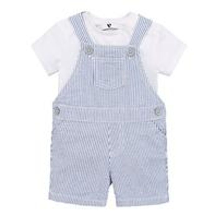 V by Very Baby Boys Stripe Romper and T-Shirt Set - Blue