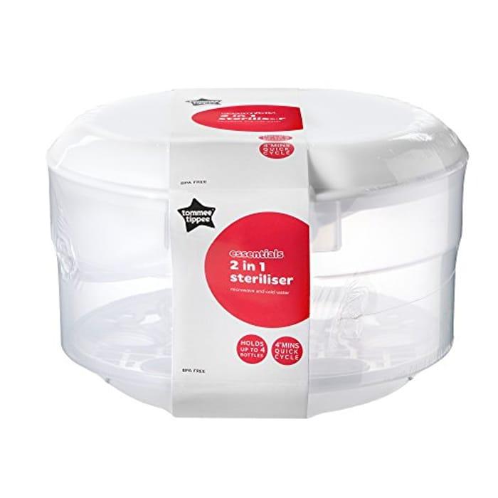 Tommee Tippee Essentials Cold Water 2 in 1 Microwave Steriliser