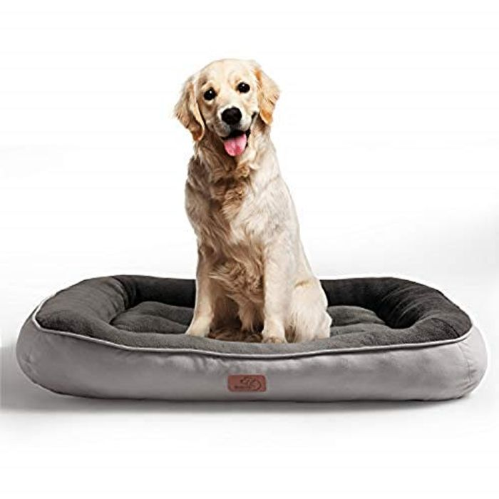 Bedsure Plush Dog Bed for Large Dogs - Only £16.49!