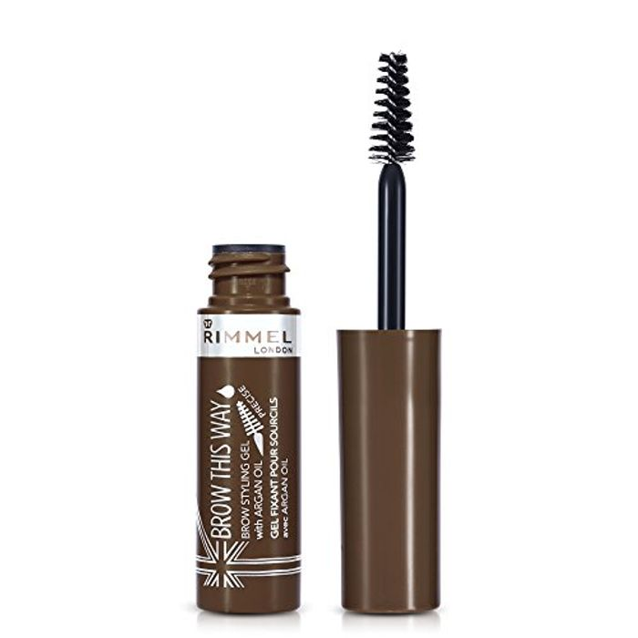 CHEAP! RIMMEL BROW THIS WAY Styling Gel with Argan Oil, MEDIUM BROWN