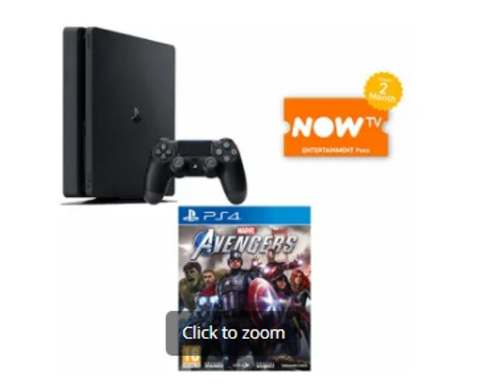PS4 500GB + MARVELS AVENGERS + NOW TV - Only £249!