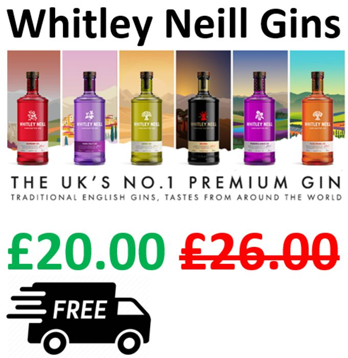 CHEAP! Whitley Neill Gins, 70cl - SAVE £6 + FREE DELIVERY
