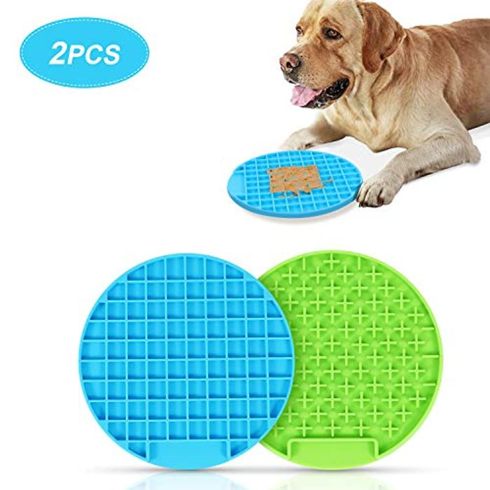 2 Pack WERFORU Buddy Treat Mat for Pet Training and Grooming - Only £4