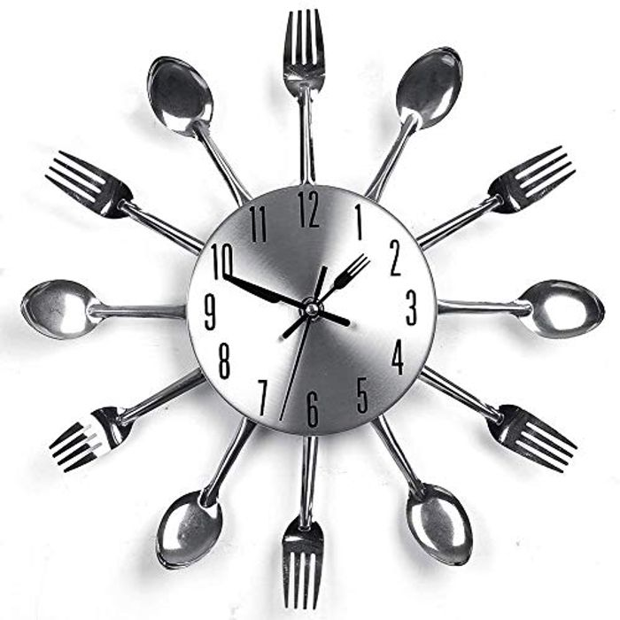 Half Price- Knife and Fork Wall Clock -3D Decorative Clock